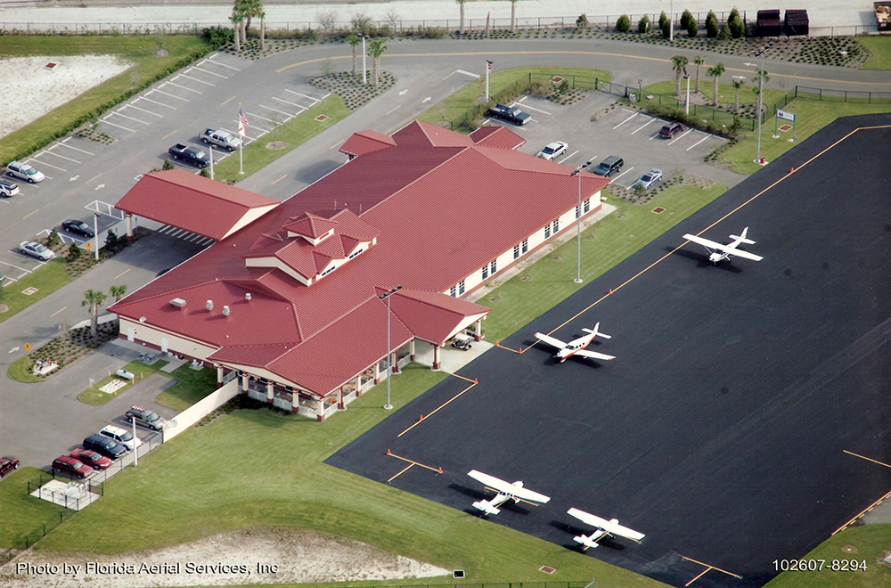 Standing Seam Metal Roof On Bartow Airport copy