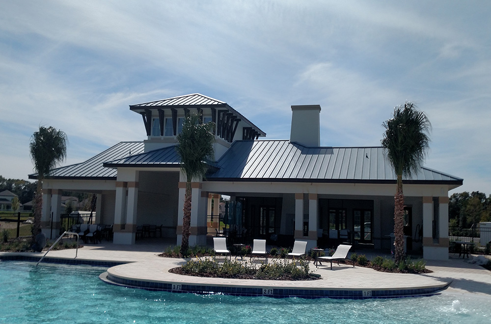 Bronze Color SS Metal Roof On Pool House In Orlando