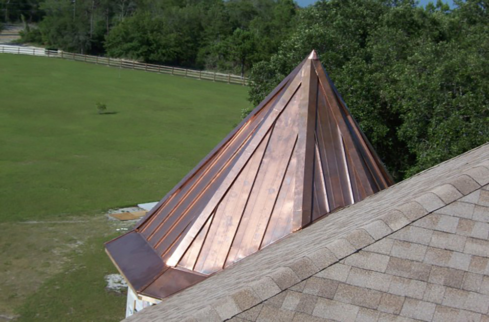 Copper Cupola Roof On Home In Hernando County