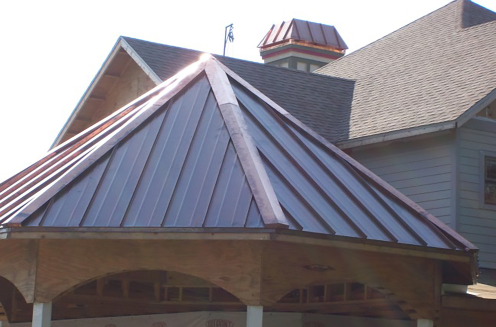 Copper Gazebo Roof And Chimney Cap