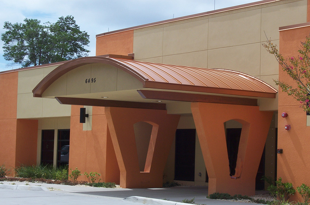 Copper Penny Color Radius Roof And Coping System