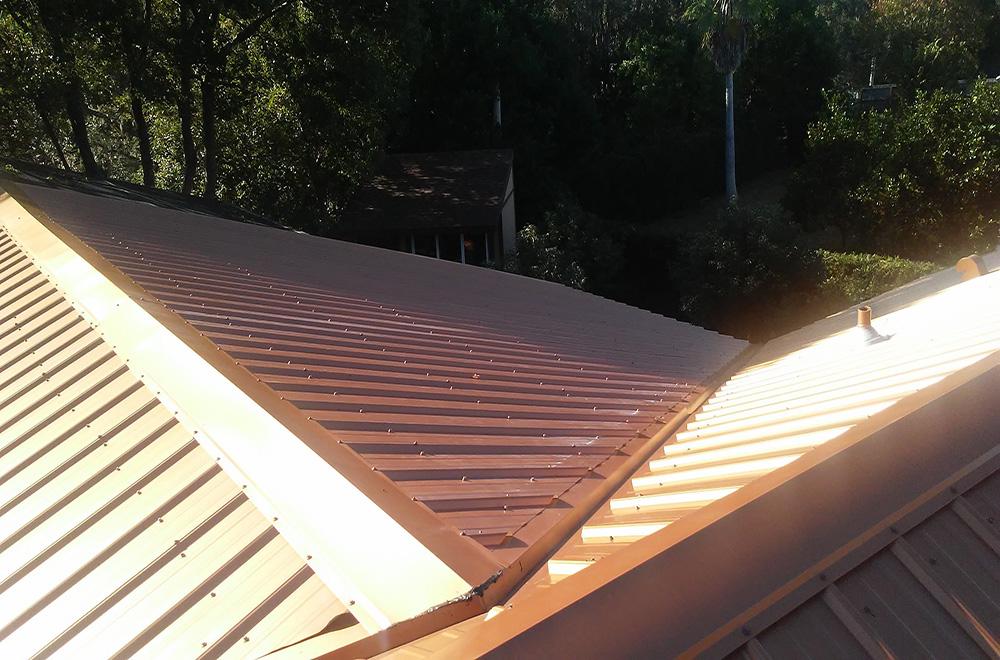 Copper Penny Exposed Fastener Metal Roof In Weeki Wachee