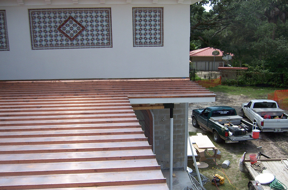 Copper Roof On A Home In Tampa Florida