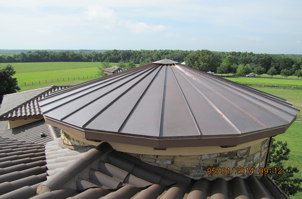 Copper Roof On Tower In Brooksville Florida