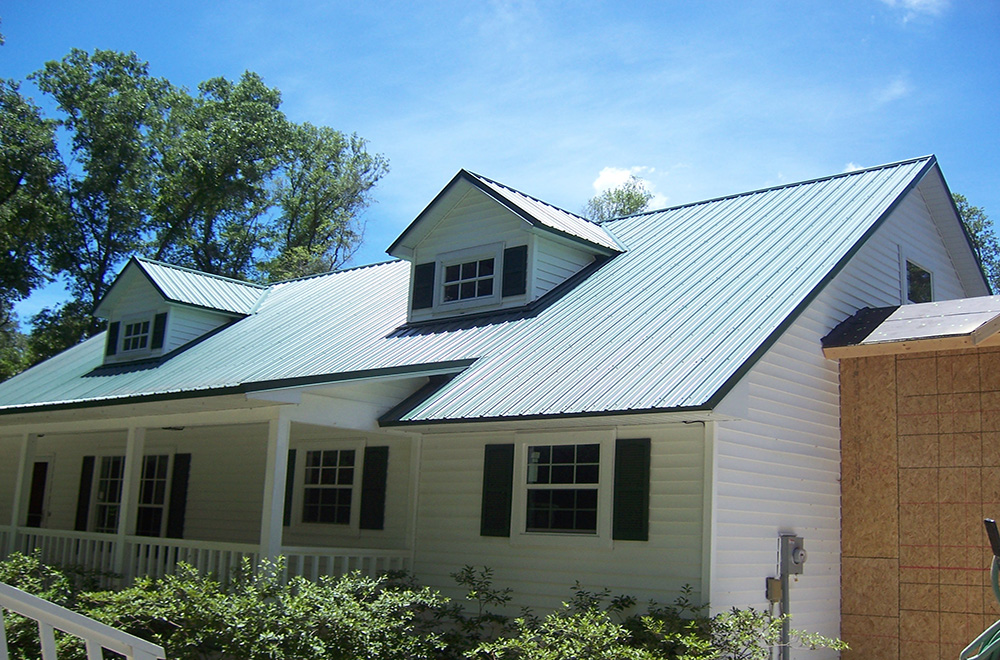 Exposed Fastener Forest Green Metal Roof In Brooksville FL