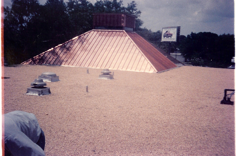 Gravel Roof With Copper Pop Up In Tampa FL