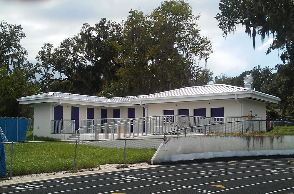 Mil Finish Metal Roof With Gutter System Hernando High School