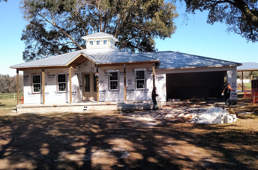Mil Finish Standing Seam Metal Roof On New Construction
