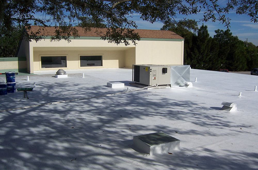 Roof Coating Applied Over Modified Roof In NPR