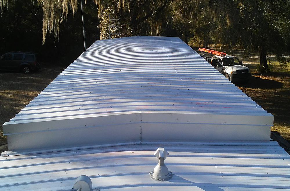 Roof Over On Mobile Home In Brooksville