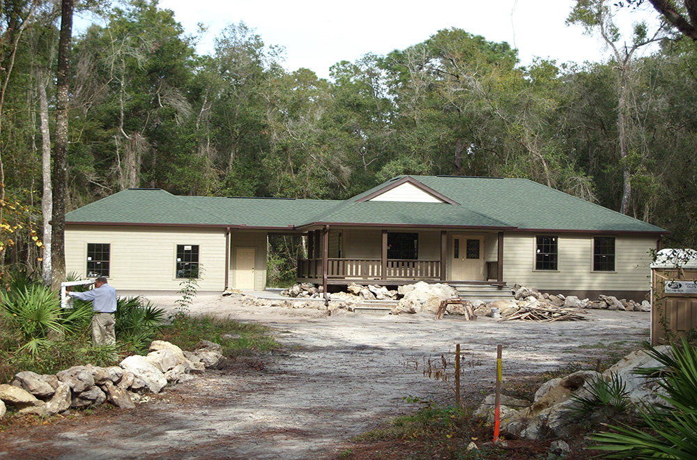 Rustic Evergreen Shingle Roof In Webster Florida