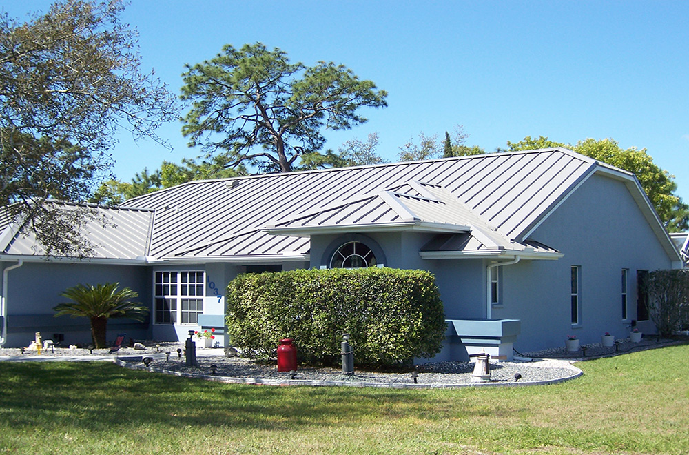 Gray Standing Seam Metal Roof In New Port Richey