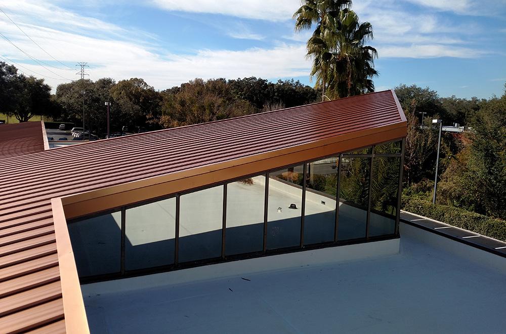 24ga Painted Copper Metallic Standing Seam Metal Roof