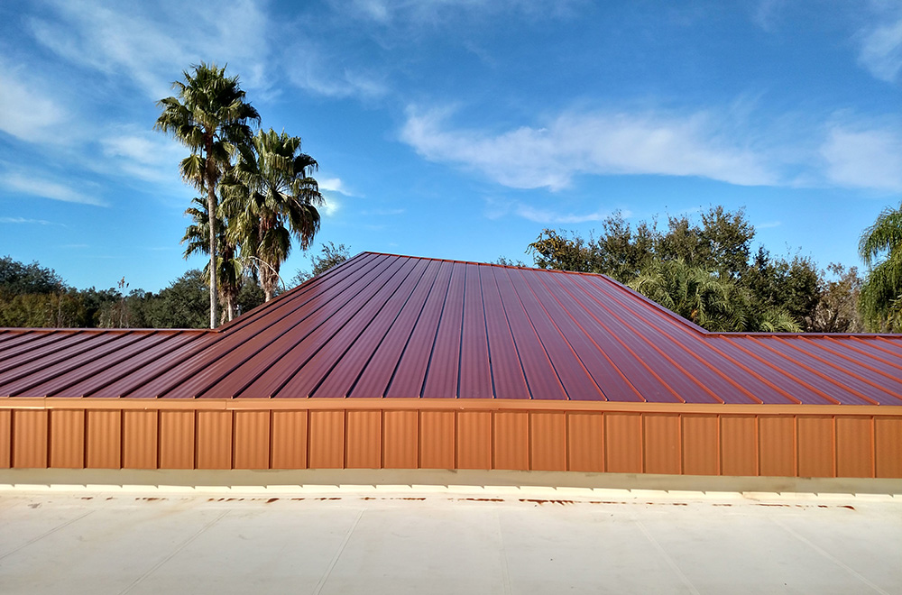 Copper Metallic SS Metal Roof With Wall Panels