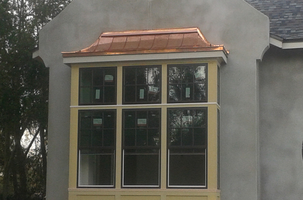 Copper Roof Over a Bump out Window