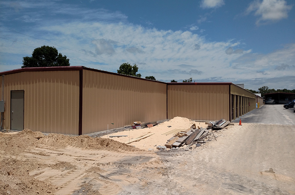 Metal Roofing With Siding And Gutter System Of Storage Buildings
