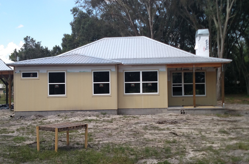 New Construction Exposed Fastener Mil Finish Metal Roof