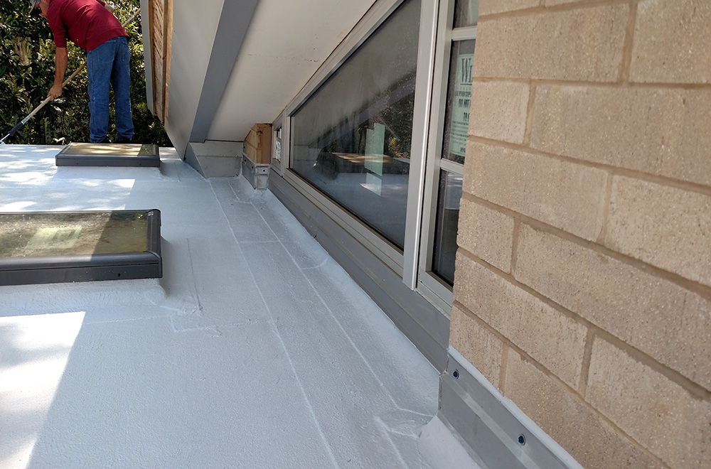 White Roof Coating System On Residence